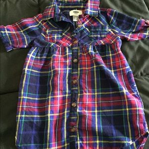 Old Navy 2T plaid tunic